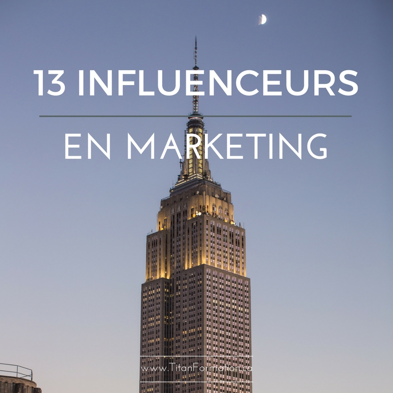 13 influenceurs en marketing
