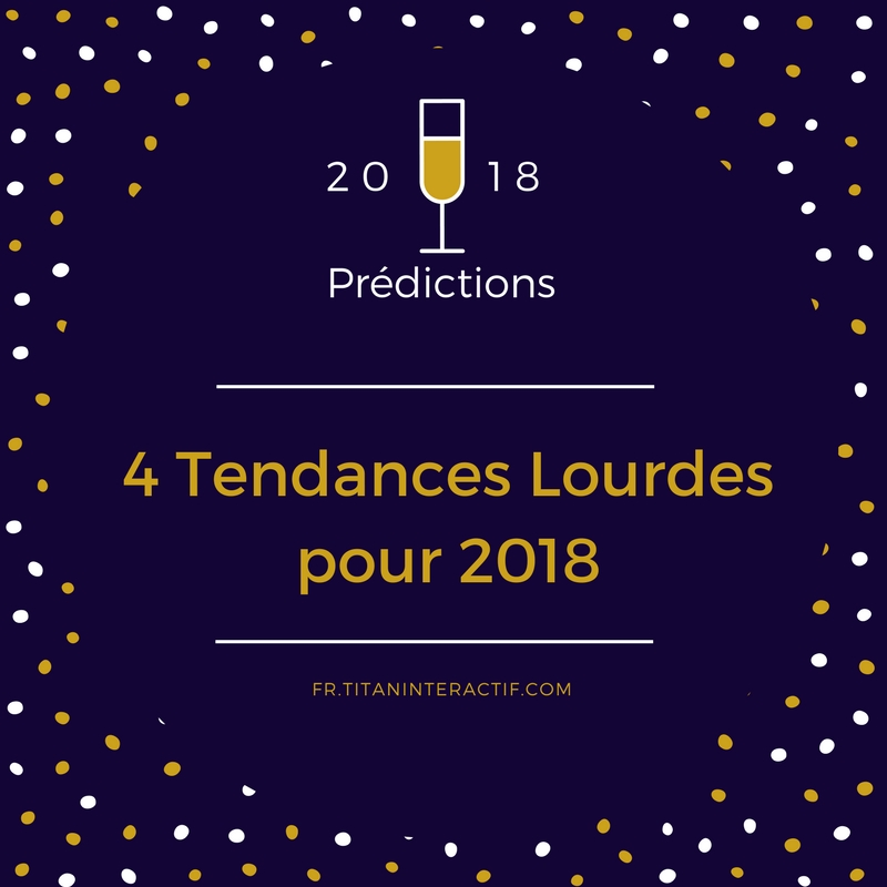 Prédictions 2018 en marketing et publicité