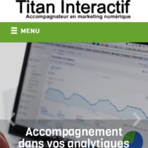 site mobile Titan Interactif