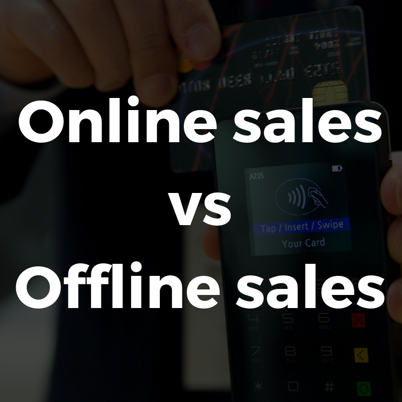 Online sales versus in-store sales