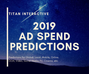 2019 ad spend predictions
