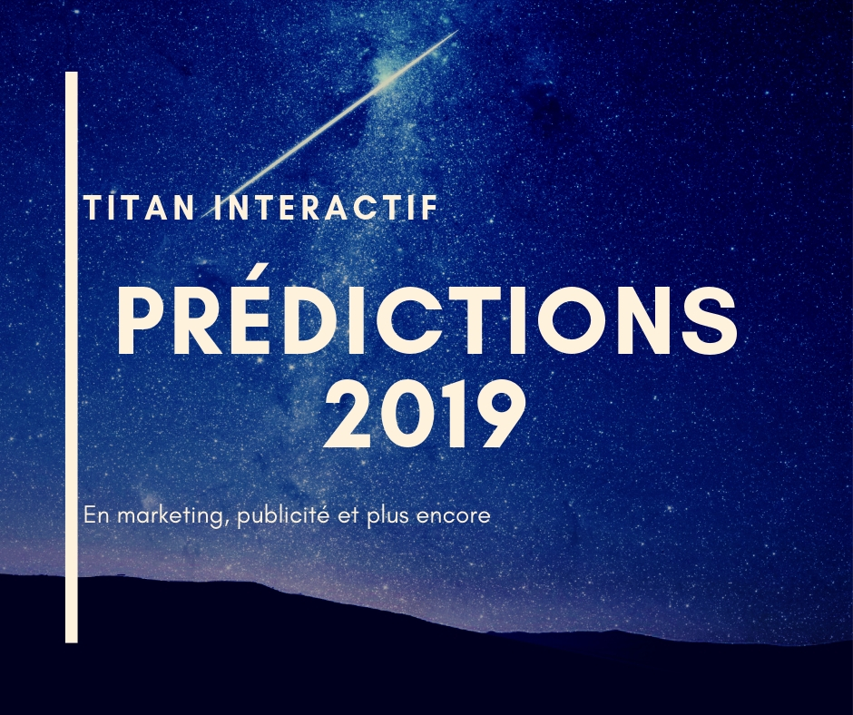 Prédictions 2019 en marketing et publicité