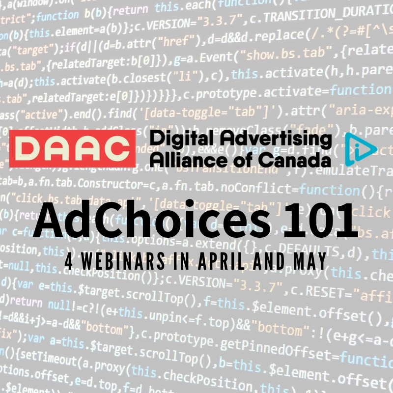 AdChoices 101 – 4 upcoming webinars