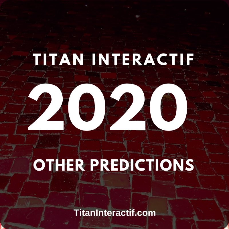 Other 2020 Predictions