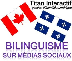bilinguisme sur medias sociaux