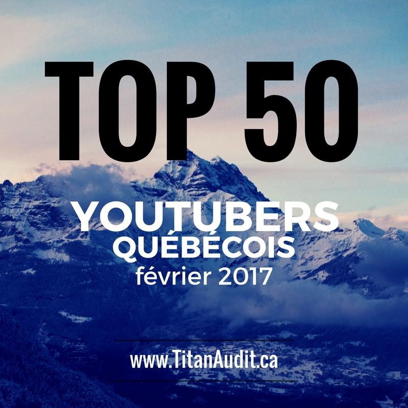 Top 50 YouTubers Québécois en 2017