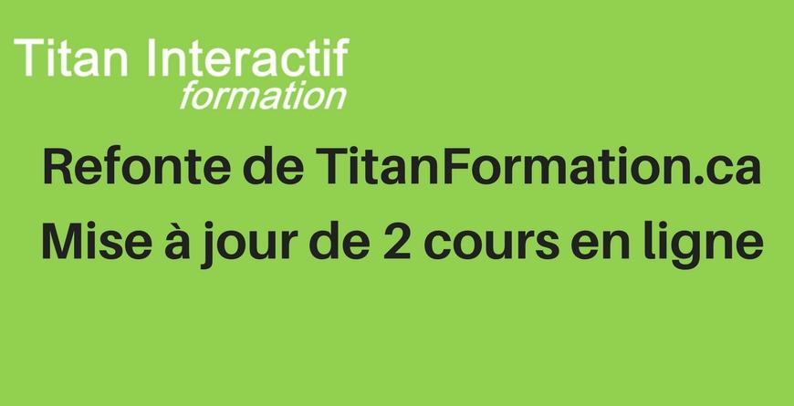 Refonte du site TitanFormation.ca