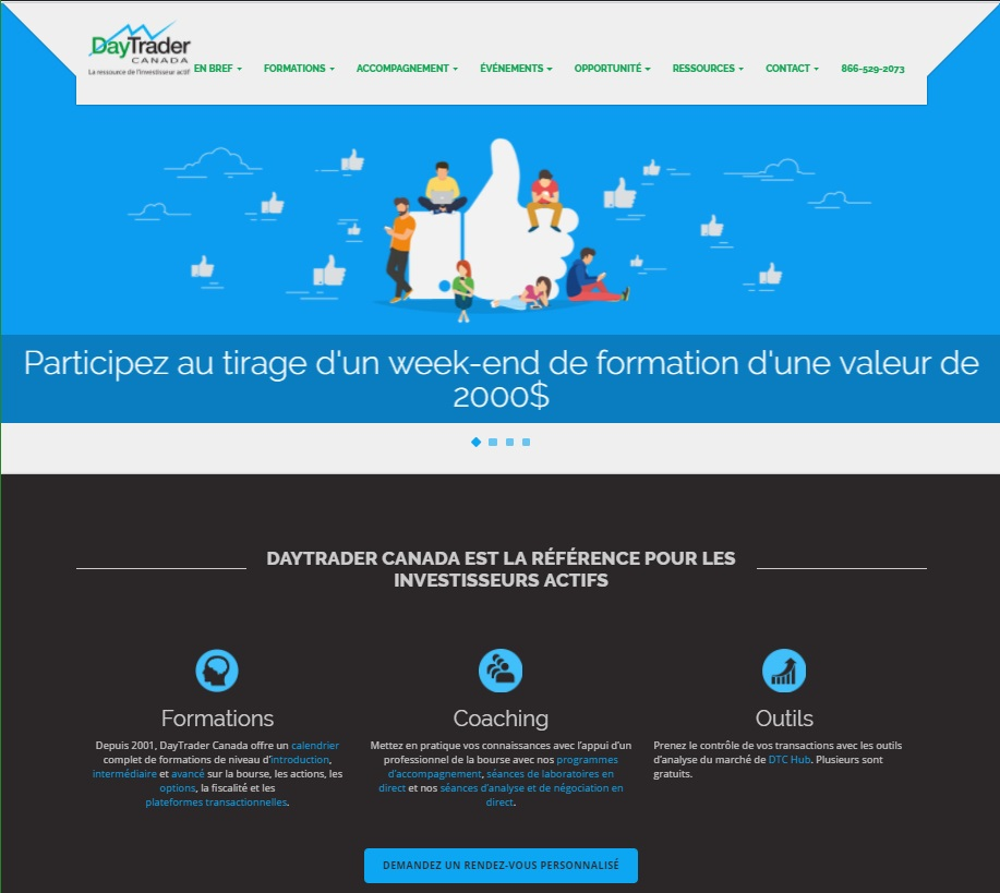 Site Web DayTrader Canada