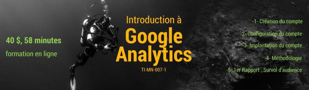 Faites vos premiers pas avec Google Analytics