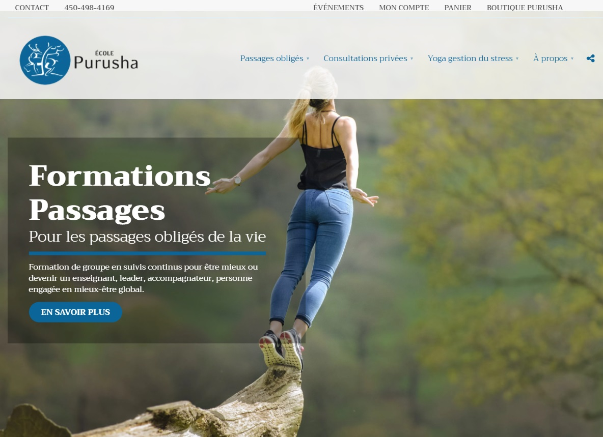 Site web de École Purusha
