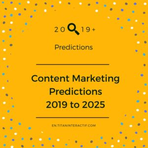 2019+ content marketing forecast