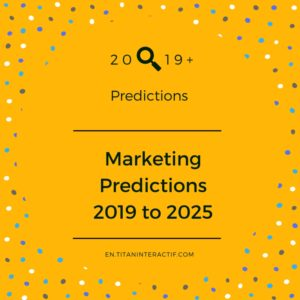 2019+ marketing predictions