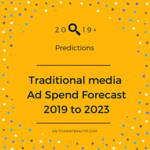 2019+ traditional media ad spend forecast