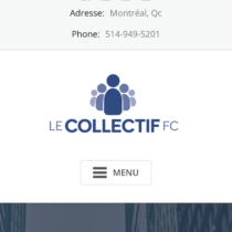 site mobile Le Collectif FC