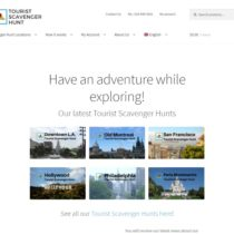 Site web Tourist Scavenger Hunt