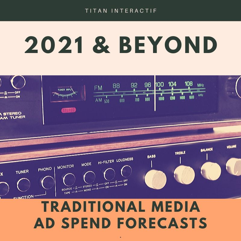 Traditional Media Ad Spend Forecasts for 2021 and beyond